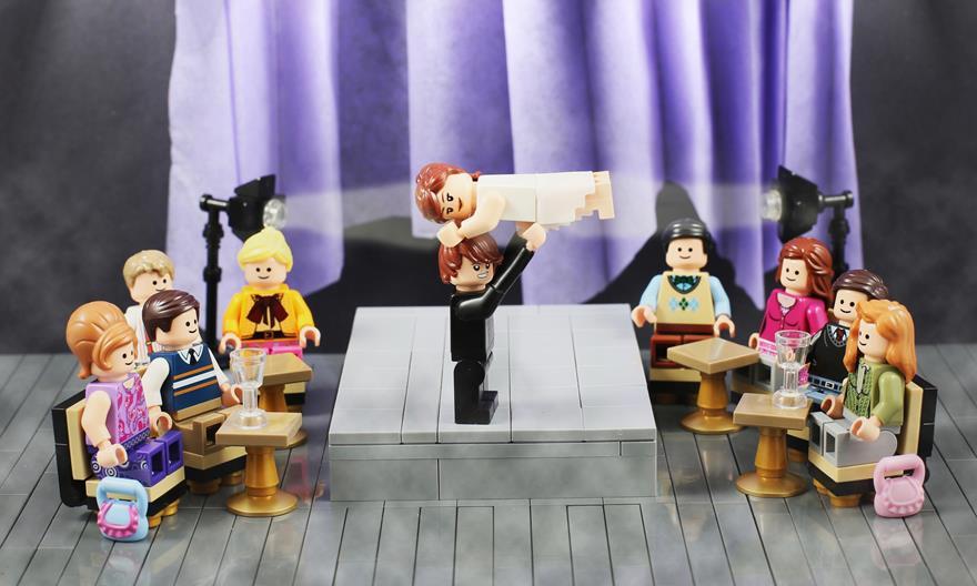 LEGO Dirty Dancing Increased Contrast