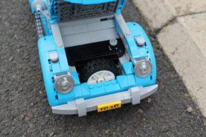 The bonnet conceals the Beetle's spare tyre...