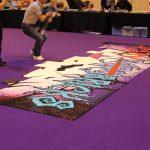 The Fairy Bricks mosaic under construction.