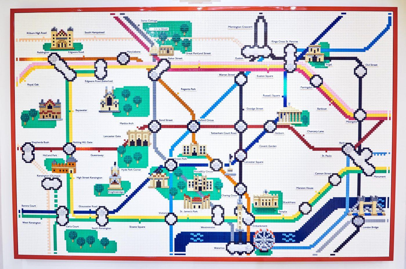 London Underground Map LEGO Store London EMBARGO 17.11.16 Copyright LEGO