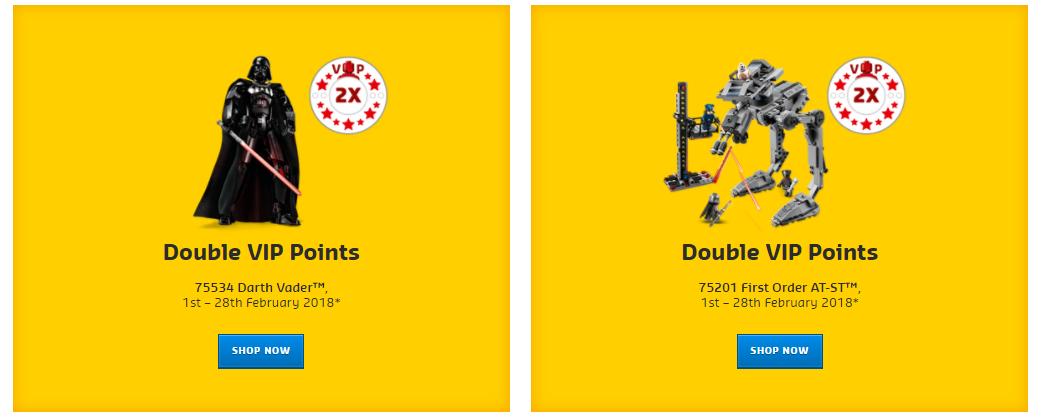 LEGO Double VIP points feb 18