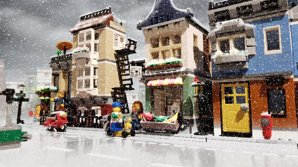 Brick Pic City Snow