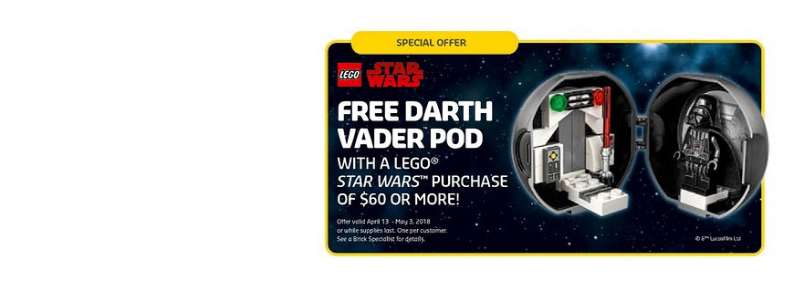 LEGO 5005376 Darth Vader Pod Featured