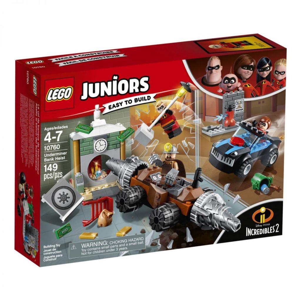 LEGO Juniors Incredibles 2 Underminers Bank Heist Box
