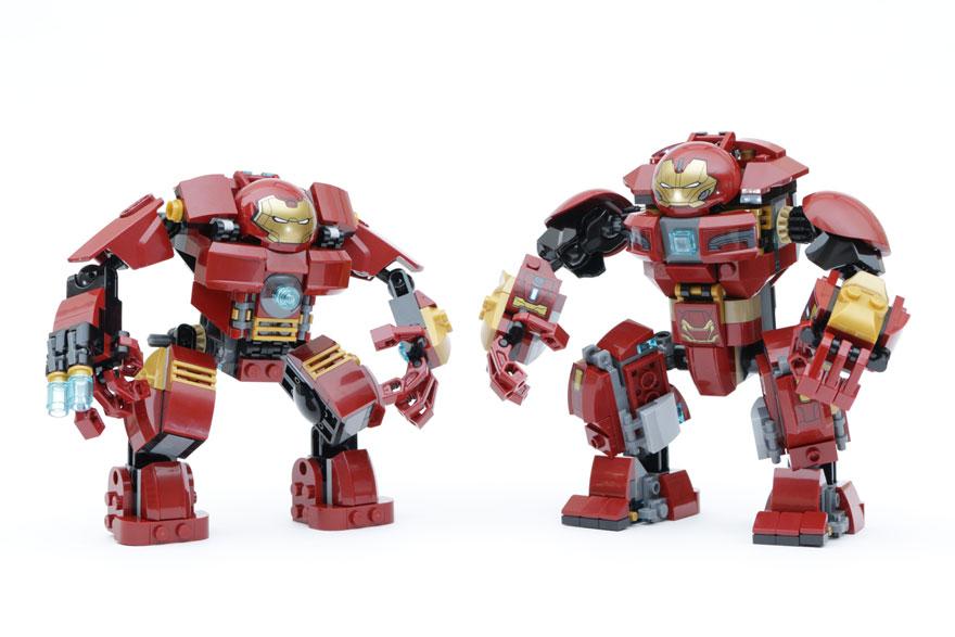 LEGO Marvel Super Heroes 76104 The Hulkbuster Smash Up 76031 The Hulk Buster Smash Comparison Main