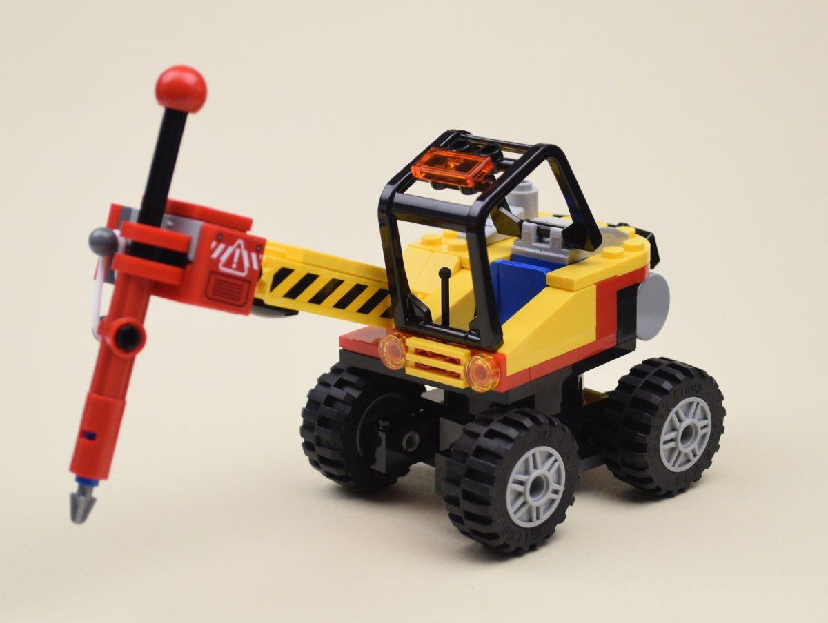 Lego 60185  City Mining Power Splitter Mining Minifigure Glow Spider Brand New