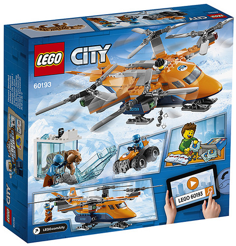 LEGO City 60193 Arctic Air Transport Back