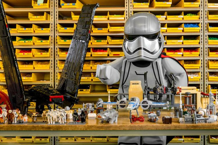 WINTER HAVEN, FL -- April 5, 2018 -- Captain Phasma and Darth Vader preview for LEGO Star Wars Miniland display. (PHOTO / LOCK + LAND, Edward Linsmier for LEGOLAND Florida Resort)