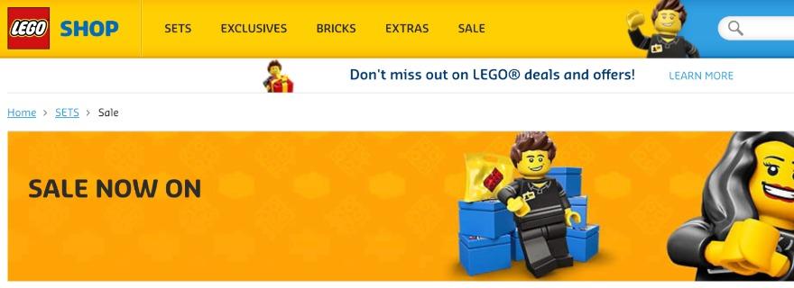 LEGO shop sale featured