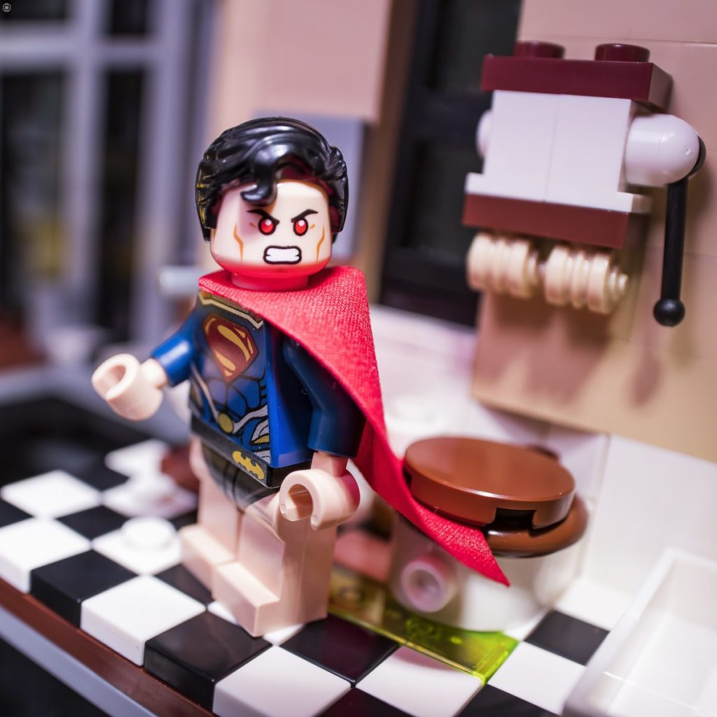 Brick Pic Superman Lavatory
