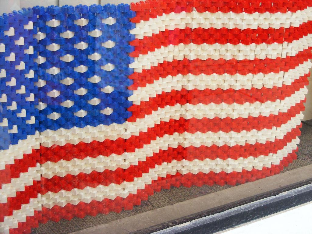 Brick Pic US Flag