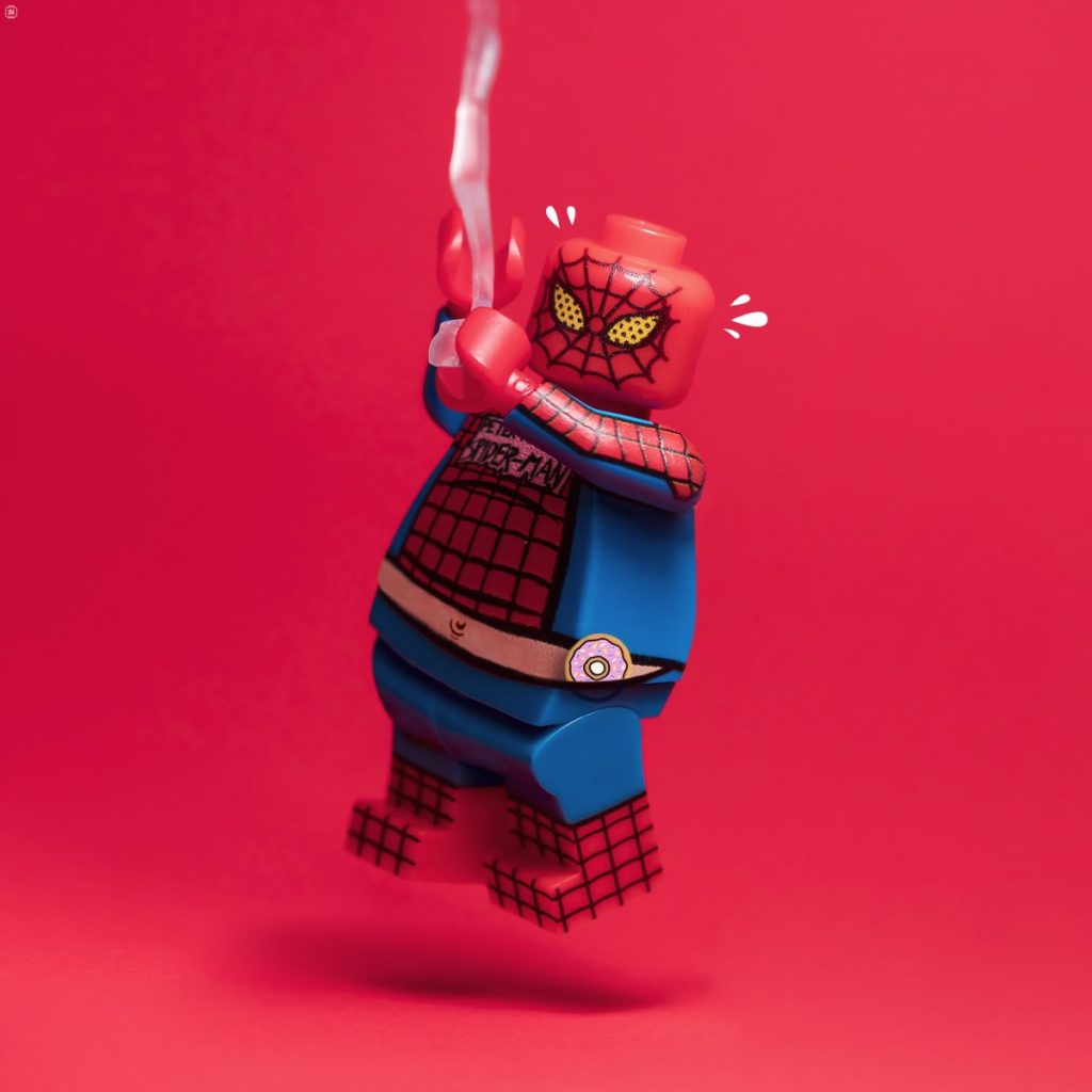 Brick Pic Fat SPider Man