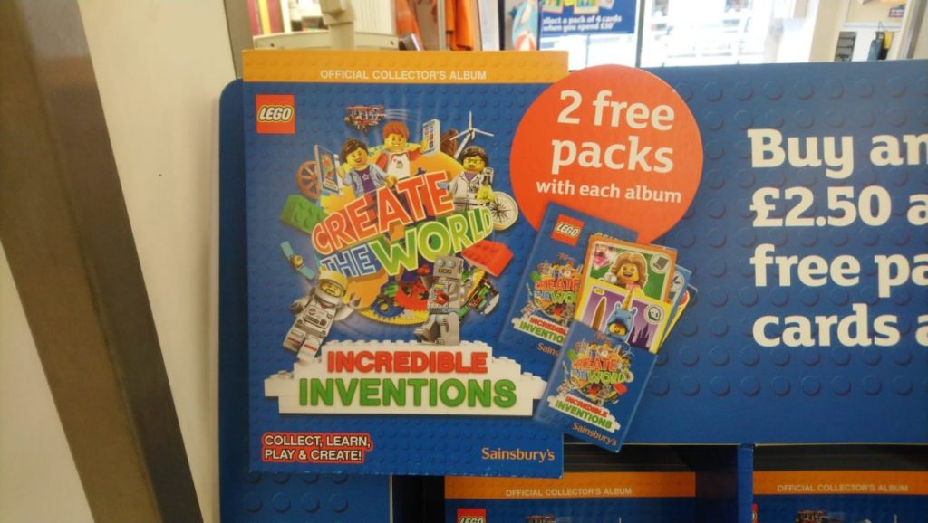 Full Set 140 Lego Create The World Cards Incredible Inventions Sainsburys