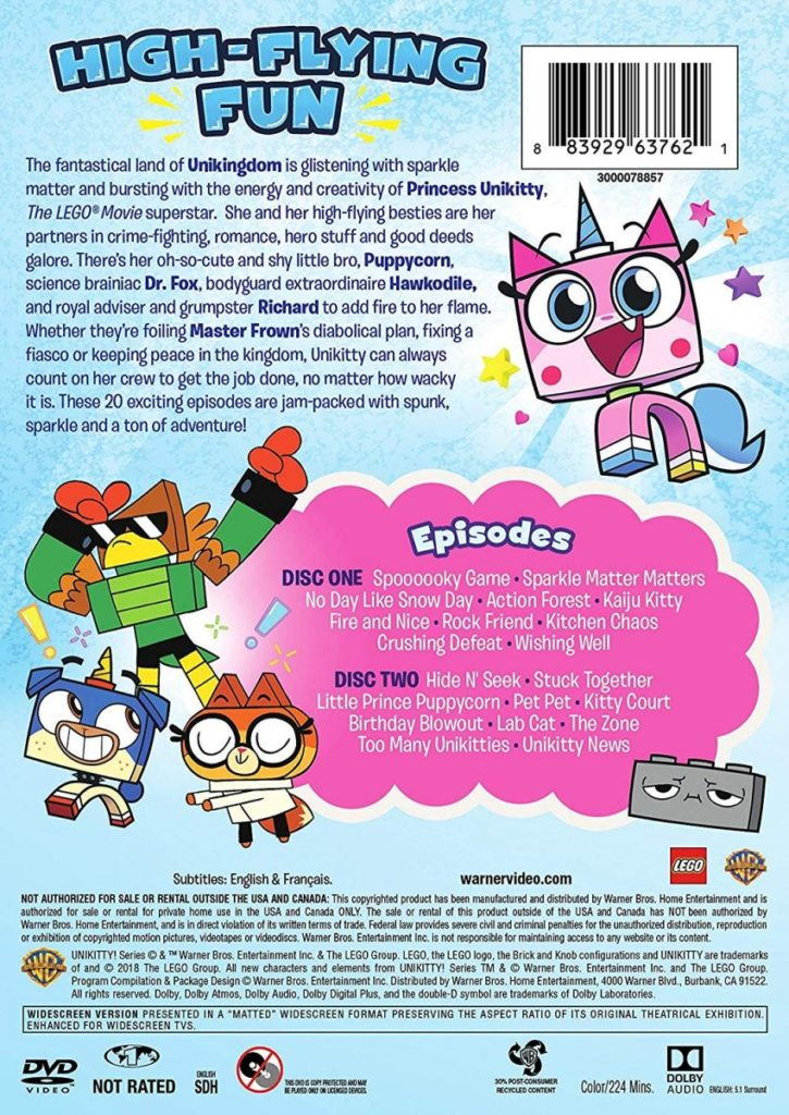 LEGO Unikitty Sparkle Time DVD 2