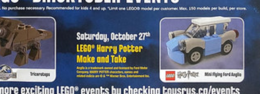 LEGO Harry Potter Mat Flying Car Featured