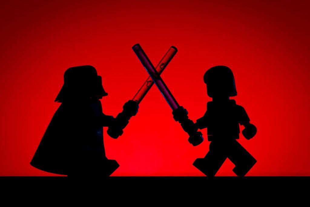 LEGO Luke Vs Darth 1024x683