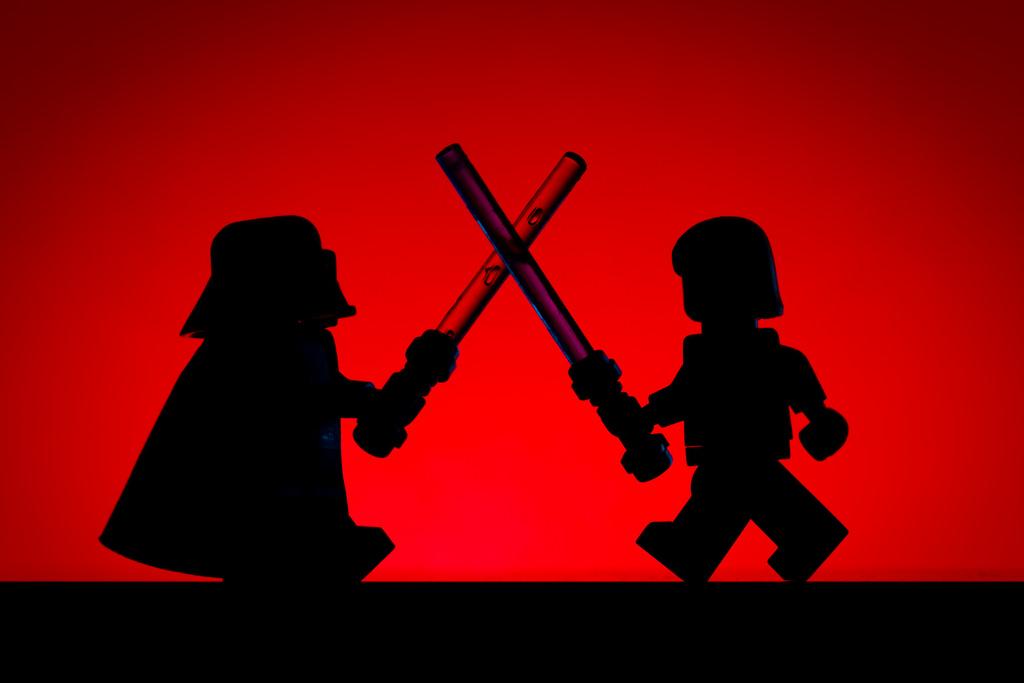 LEGO Luke Vs Darth