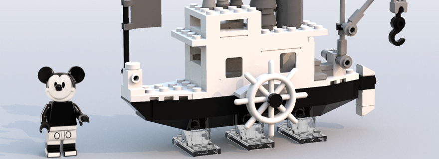 LEGO Steamboat Willie Mickey Mouse Featured