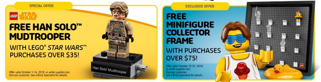 LEGO Store Calendar October Promos 1024x263