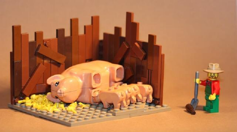 Brick Pic Pigs Featured