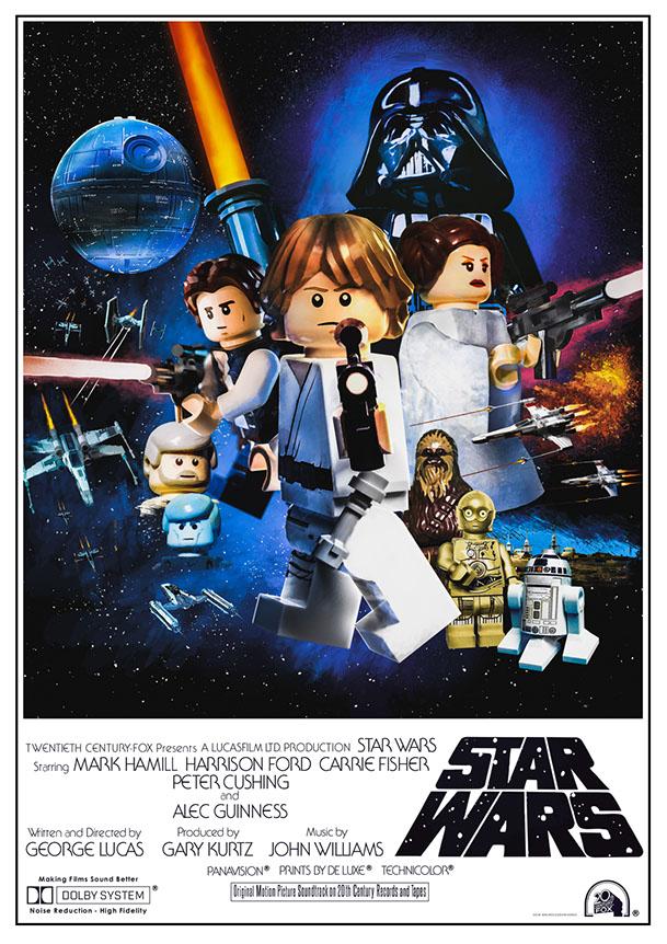 Brick Pic Star Wars Poster