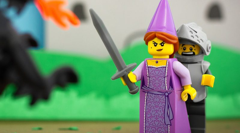 Brick Pic of the Day: Damsel in no distress
