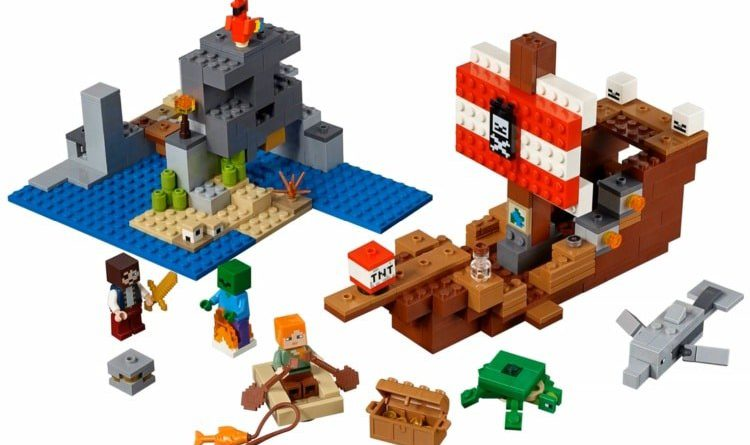 LEGO Minecraft 21152 Pirate Ship 750x445