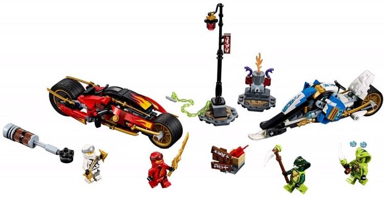 LEGO NINJAGO Legacy 70667 Kais Blade Cycle Zanes Snowmobile 1
