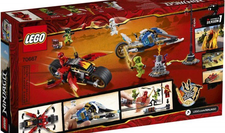 LEGO NINJAGO Legacy 70667 Kais Blade Cycle Zanes Snowmobile 2 750x445
