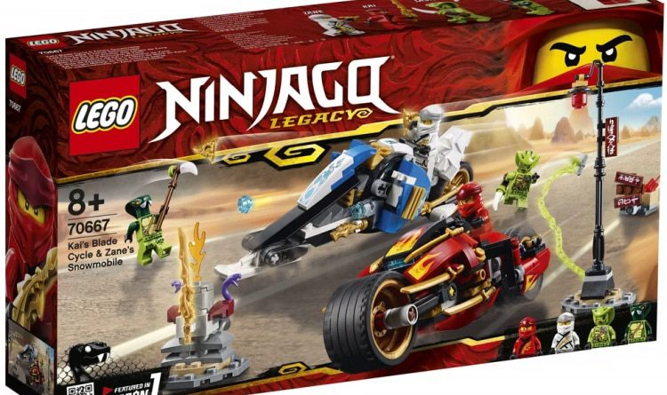LEGO NINJAGO Legacy 70667 Kais Blade Cycle Zanes Snowmobile 3 750x445