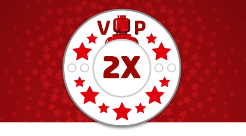 Last day for double VIP points at the LEGO online shop
