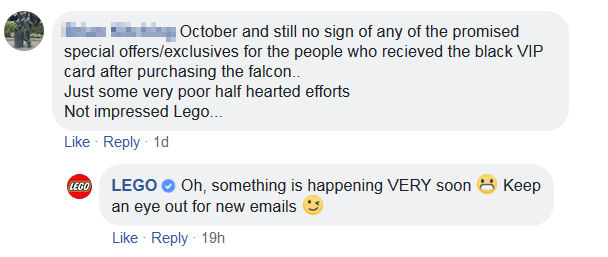 LEGO Fb Comment