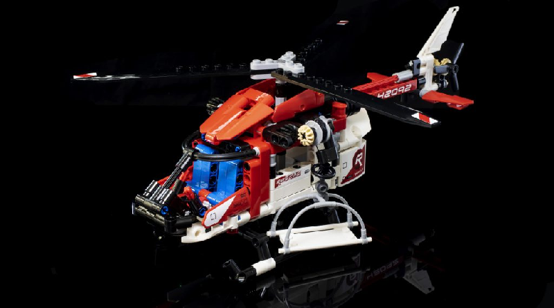 LEGO Technic 42092 Rescue Helicopter Review Featured 800 445