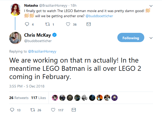The LEGO Batman Movie 2 Tweet Featured 800 445