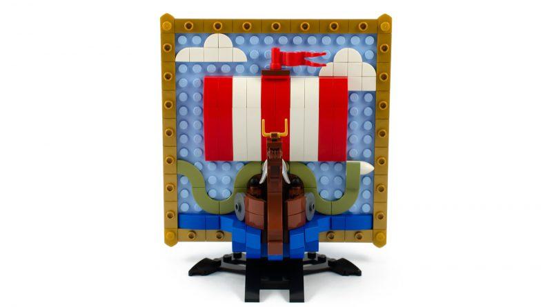 AFOL Designer Viking Ship 3D Mosaic 800x445