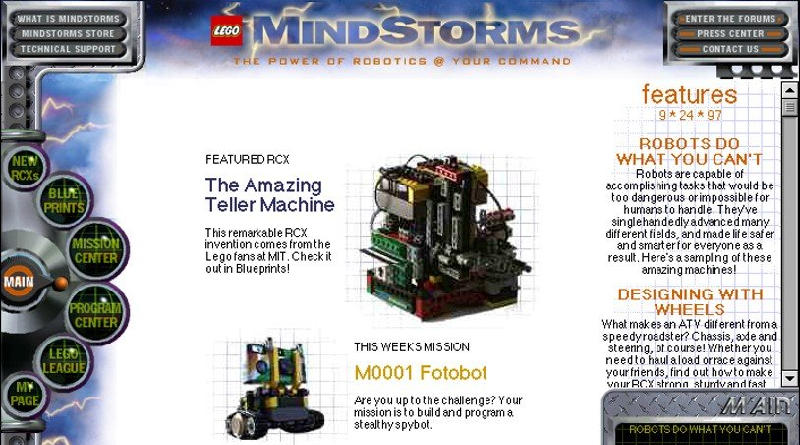 LEGO Mindstorms Classic Website Featured 800 445