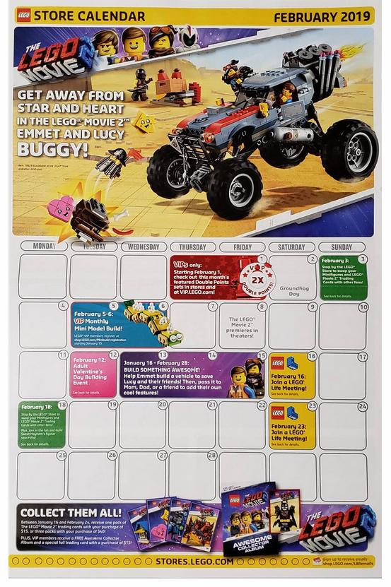 LEGO Store Calendar February 2019