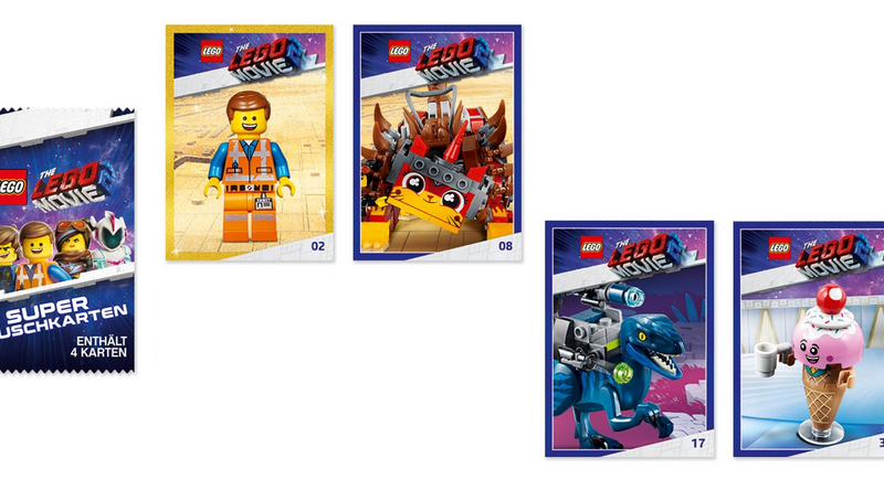 Free The LEGO Movie 2: The Second Part trading cards with product purchases