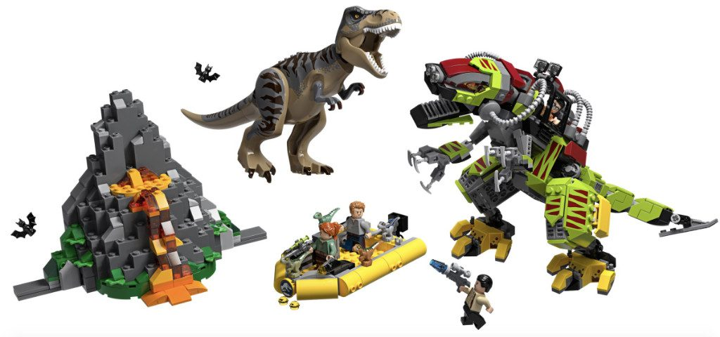 LEGO Jurassic World 75938 T Rex Vs Dino Mech Battle 1024x480