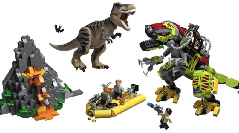 LEGO Jurassic World 75938 T Rex Vs Dino Mech Battle 800x445