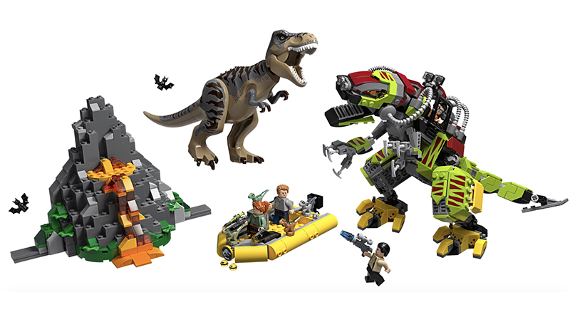 LEGO Jurassic World 75938 T Rex Vs Dino Mech Battle Featured 800 445