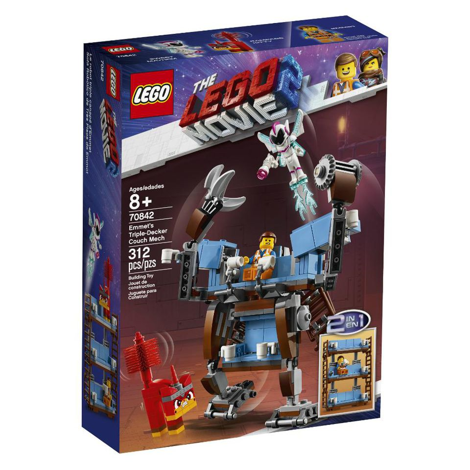 The LEGO Movie 2 70842 Emmets Triple Decker Couch Mech Box
