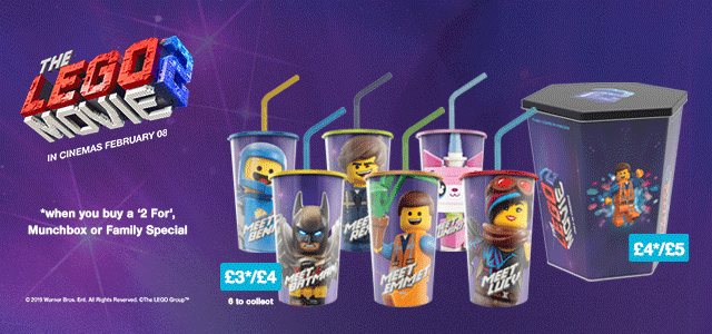 Exclusive The LEGO Movie 2: The Second Part cups and buckets at Cineworld