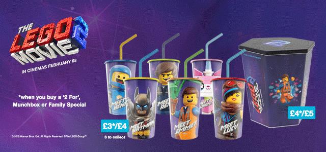 The LEGO Movie 2 Cineworld Cups