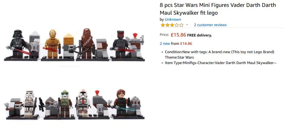 Fake LEGO Amazon