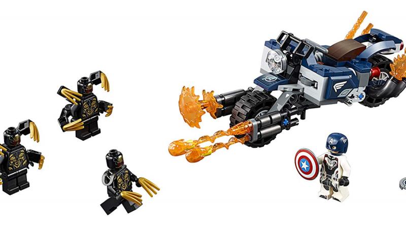 LEGO Marvel Avengers Endgame 76123 Captain America Outriders Attack 800x445