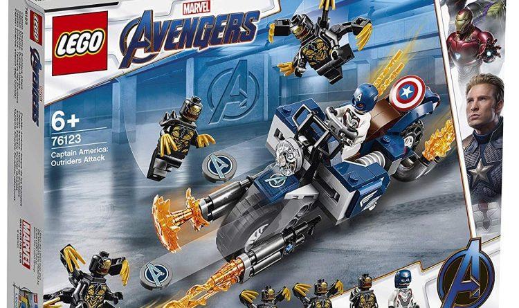 LEGO Marvel Avengers Endgame 76123 Captain America Outriders Attack Box 750x445