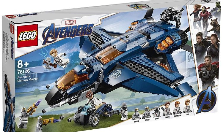 LEGO Marvel Avengers Endgame 76126 Ultimate Avengers Quinjet Box 750x445