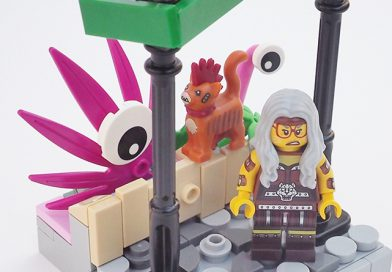 The LEGO Movie 2 Collectible Minifigures vignettes: Sherry Scratchen-Post & Scarfield