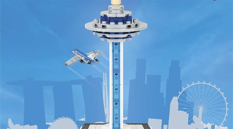 LEGO Singapore Airport exclusive featured 800 445